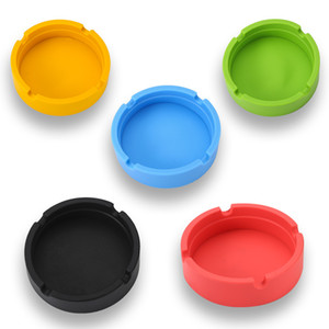 Portable Rubber Silicone Ashtrays Round Cigarette Holder Smoking Accessories Ashtrays Bendable Lighters Smoking Accessories