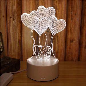 3D небольшой настольная лампа подарочная лампа LED Night Light 3 Цвет пеленальный стол настольная лампа для подарка