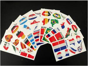 Горячие продажи-новые стили 2018 Чемпионат мира временные татуировки наклейки национальные флаги футбол татуировки наклейки лицо / губы стикер