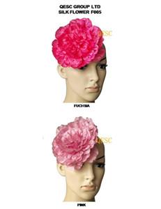 NUEVA LLEGADA 16CM Silk Flower para accesorios de boda / fascinador sinamay, con broche pinza de pelo