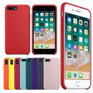 iPhone Per Custodia in silicone originale 11 Pro Max 7 8 Phone Case Inoltre scatola per l'iphone XS X 6S 6 Plus con vendita al dettaglio
