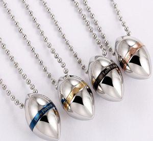 New Urn Collane per donne e uomini Titanio acciaio inossidabile Waterdrop Cremation caso bottiglia di profumo Catene ciondolo collana Lovers Jewelry