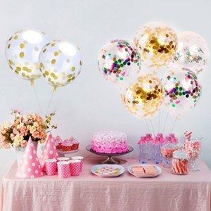 12 polegadas Confetti Balão De Látex Romântico Decoração Do Casamento de Espuma De Ouro Bolha Mágica Confetti Balões Fontes Do Partido de Aniversário