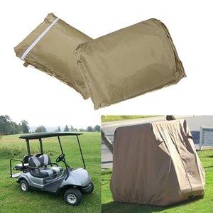 Водонепроницаемый 4 Пассажиры автомобиля Detector Golf Cart Protect Cover UV Устойчив For Two Легковой автомобиль Club Car Хаки 108x48x66