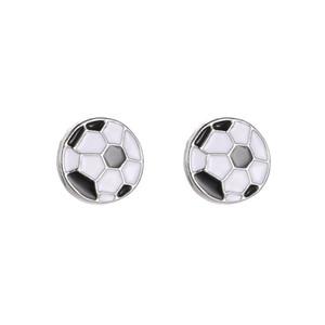 Творческий футбол серьги шпильки необычные новая модель простые футбольные фанаты чемпионата мира по горячим продажам сплава посеребренные шпильки серьги ювелирные изделия оптом