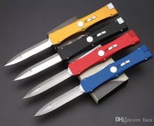 4 couleurs classiques de mesure Nemesis seule action D / E lame aluminium 6061 poignée couteau auto-défense de couteau satin 1pcs freeshipping