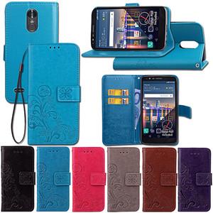 Для LG стилус 3/Stylo3/Stylo3 плюс/К10 плюс/LS777/MP450/К10 про чехол PU кожаный чехол подставка повезло четыре листа с бумажник карта держатель