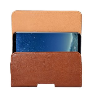 Cinto Universal Clipe de Couro PU Cintura Titular Bolsa Flip Case para Panasonic Eluga I7 / P101 / Eluga Ray Max