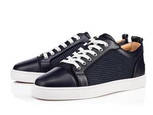 Nueva versión ! EE. UU. Artículos amados Zapatos Zapatillas Red Sole Zapatillas de deporte para hombre Junior de gamuza plana Hombres Moda Entrenadores cómodos para caminar Show de lujo al aire libre