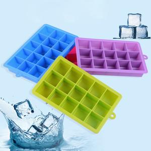 جديد 15 المربعات مكعب سيليكون علبة مكعبات الثلج تجميد القالب علبة مكعبات الثلج صنع قالب الثلج مربع لشريط حزب أدوات