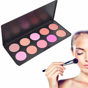 DHL free shipping whiteout logo 10Colors Blusher Palette Makeup Blush Professional Makeup Powder Blush Palette Can be customize private tags