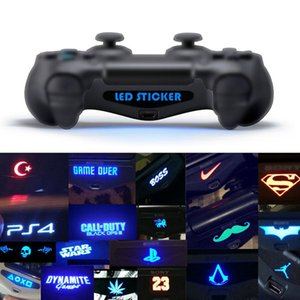 40pcs / set 게임 LED 라이트 바 커버 비닐 데칼 스킨 스티커 스티커 플레이 스테이션 4에 대 한 PS4 컨트롤러 게임 패드 고품질 빠른 배