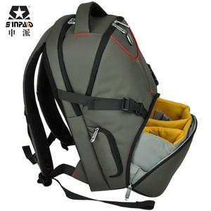 Novo padrão de DSLR Camera Bag Backpack Vídeo Foto Bolsas para câmera D3200 D3100 D5200 D7100 pequeno Compact Camera Backpack