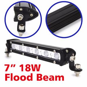 1Pc 6 дюймов 18W LED Work Light Bar Вождение автомобиля лампы Пятно Наводнение лампы 12v 24v работы лампы Грузовик Suv Лодка ATV 4X4 Внедорожник 4WD