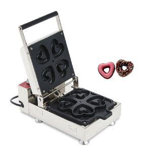 BEIJAMEI 110v 220v cottura elettrica forme cuore macchina donut automatica Panettiere che produce mini ciambella macchina
