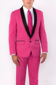 High Quality One Button Groom Tuxedos Groomsmen Shawl Lapel Best Man Blazer Mens Wedding Suits (Jacket+Pants+Tie) H:985