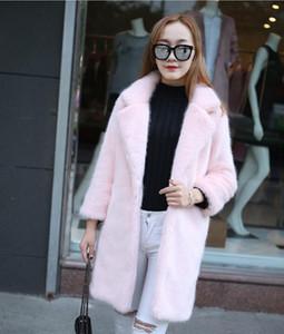 New Elegant Fake  Fur Fashionable Women's Winter Fake Fur Women's Warm Artificial y Coat Ladies Woman