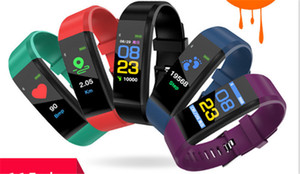 En iyi kalite ID115 Artı Akıllı Bileklik Kalp Hızı Spor GPS Aktivite Tracker Akıllı Bilezik Uyku Monitör Kamera ve Müzik Uzaktan Kumanda