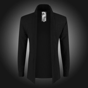 Camiseta abierta de moda de puntada abierta para hombre Ropa de marca de primavera Camisa de punto elegante casual Camisa de color puro Camisetas para hombres Talla asiática