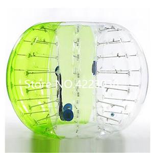 شحن مجاني 1.5 متر 0.8 ملليمتر 100٪ pvc inflatable فقاعة كرة القدم الكرة الوفير الهواء zorb الكرة فقاعة الهواء للخارجية الرياضة