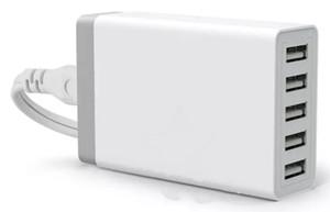 5 USB Carregador Rápido Multi-Port Carregamento Rápido de Carregamento 5 V 8A EUA UE REINO UNIDO plugue para samsung iphone pad com pacote de varejo llafa