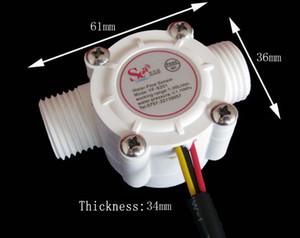 Medidor de flujo del sensor de flujo de agua del calentador de agua 1-30L / min 1.75MPa para la unidad de control de agua / medidor de flujo de Hall