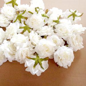 Neue Design 11 STÜCKE Künstliche Blumen Kopf 10 cm Für Hochzeitsdekoration DIY Kranz Geschenkbox Floral Silk Party Design Blumen