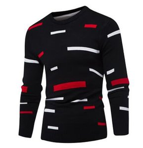 Gros-Hommes Pull Pull 2018 Mâle Marque Casual Mulit-Couleur De Mode Simple Chandails Hommes Confortable Hedging O-Neck Hommes Pull