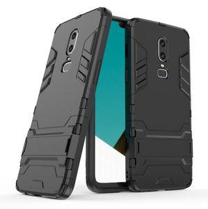 Para oneplus 6 case stand robusto combo armadura híbrida suporte de impacto coldre capa protetora para oneplus 6 / 1plus 6