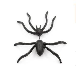 Sıcak tarzı siyah örümcek küpe karakter önce ve sonra çift küpe kaprisli alternatif Cadılar Bayramı süslemeleri piercing