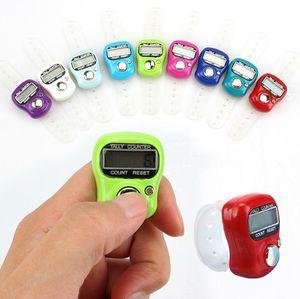 500 pz / lotto Mini Hand Hold Handed Banda Tally Contatore LCD Digital Screen Anello di Barretta conteggio di Testa Elettronico Tasbeeh Tasbih SN1250