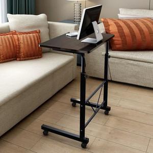 جديد الرئيسية غرفة بسيطة سطح المكتب الكمبيوتر المحمول مكتب السرير الجانب بكرة الجدول المنزلية المعاصرة رفع طاولة الكمبيوتر 60x40 سنتيمتر