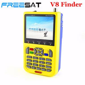 Freeshipping V8 Finder HD Medidor digital satelital DVB-S2 FTA LNB Puntero de señal Receptor de TV satelital Herramienta con 3.5 '' LCD