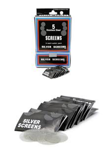 500 adet / kutu çelik ekran Dianeter ot için 20 MM filtre sigara boru metal borular budbomb boru toke borular sigara aksesuarları