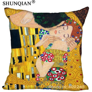 New Arrival gustav klimt the kiss Square Pillowcases zipper Custom Pillow Case More Size Custom your image gift