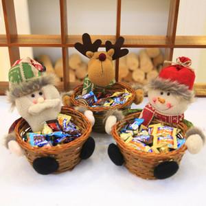 Natale Candy Basket archiviazione Babbo Natale decorazione cestino di immagazzinaggio regalo per i giocattoli da tavolino della decorazione Arredamento regalo Bambini Per