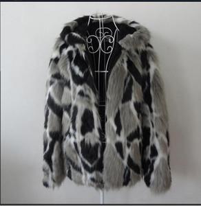 Venta al por mayor- Hombre otoño invierno imitación abrigo de visón con capucha de gran tamaño Hombre Abrigos de piel sintética Color de la mezcla para hombre S / 5Xl Abrigos de piel Ropa J1648-10
