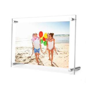 Acrylic Photo Frame Metal Screw Photo Frame Sign display PF002