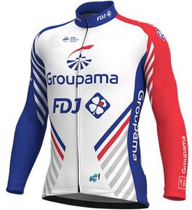 여름에만 봄 여름 자켓 CLOTHING LONG JERSEY ROPA CICLISMO GROUPAMA FDJ 2018 TEAM SIZE : XS-4XL