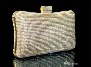 Hot Royal Western Women's Lady Fashion Swarovski Crystal Crystal Evening Clutch Bag Purse Bag Shoulderbag Nupcial del bolso Accesorios