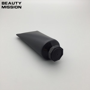 50 pçs / lote 50 ML preto Tubo Macio Vazio Creme Cosmético Loção Recipientes De Shampoo limpador Facial Unguent Recipientes Tubo Squeeze