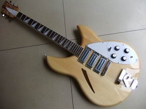 Ücretsiz Kargo! Toptan Rick 325 Modeli Elektro gitar 3 manyetikler doğal 330 360 381 ahşap 110902