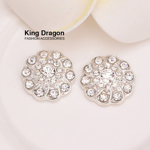 Crystal Rhinestone Embellishment Used On Decoration 13MM 20pcs lot Silver Color As Flower Center Flat Back KD24