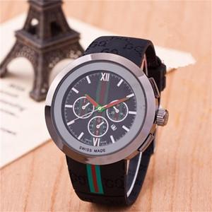 Alta qualidade Unisex Clássico relógios de quartzo homens borracha relógio de quartzo relógios de luxo, moda feminina homem Brown desportivo vermelho preto branco