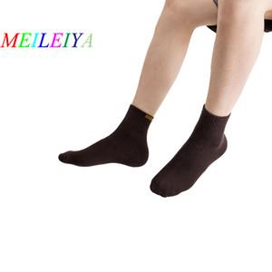 MEILEIYA 20 pares / bolsa de otoño e invierno calcetines de los hombres de color sólido Terry grueso cálido calcetines de tubo medio tirar de lana casual hombres