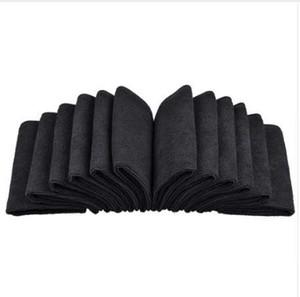 """Sinland 12PC / lot 12 """"x12"""" Serviettes en Microfibre Absorbantes Chiffons de nettoyage en microfibres Essuyage des tapis de poussière Fabricant Noir"""