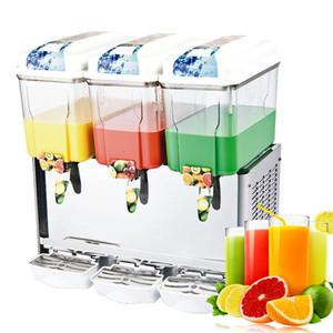 Ücretsiz Gönderi Kapı 3 * 18L Tanklar Sıcak Soğuk Fonksiyonu Suyu Dağıtıcı Dondurulmuş İçecekler Meyve Suyu İçecek Dispenseri Dondurulmuş Suyu Yapma Makinesi