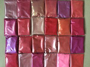 24 개 핑크 색상 운모 분말 안료는 메이크업 아이 섀도우 네일 아트 비누 만들기 설정