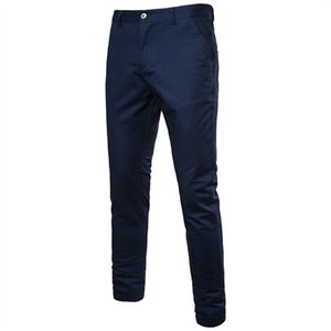 Plus Size Solid Pants Men Casual Straight Pants Mens Business Social Fashion Cargo Pants Trousers Clothing Spring