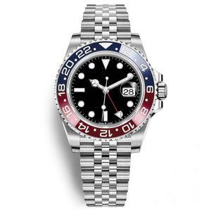 2019 Nova Chegada Mens Watch Pepsi GMT Assista Movimento Automático Cerâmica Bisel Sapphire 40 MM Dial Jubilee Mens Relógio de Pulso Masculino Relógio